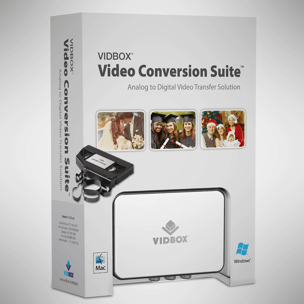 VIDBOX Video Conversion for PC – vhs to dvd converter