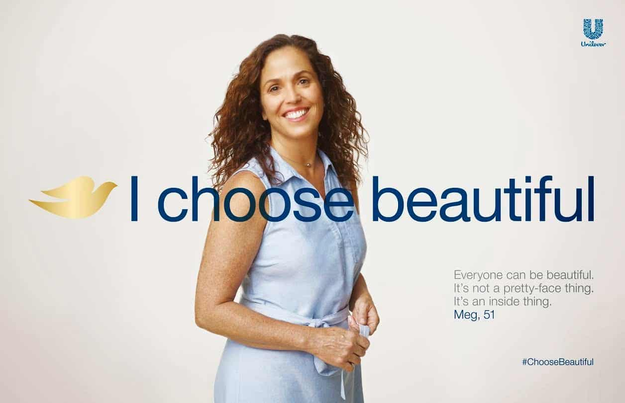 Dove – no photoshopping brand
