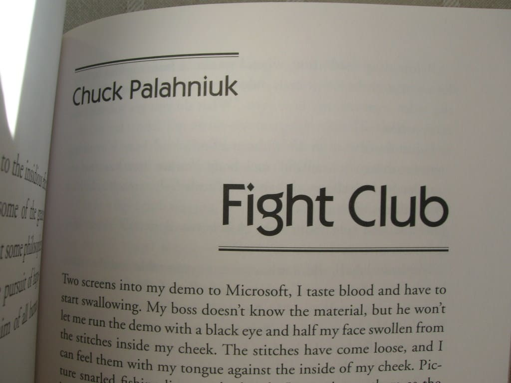 Fight Club – funny philosophy book