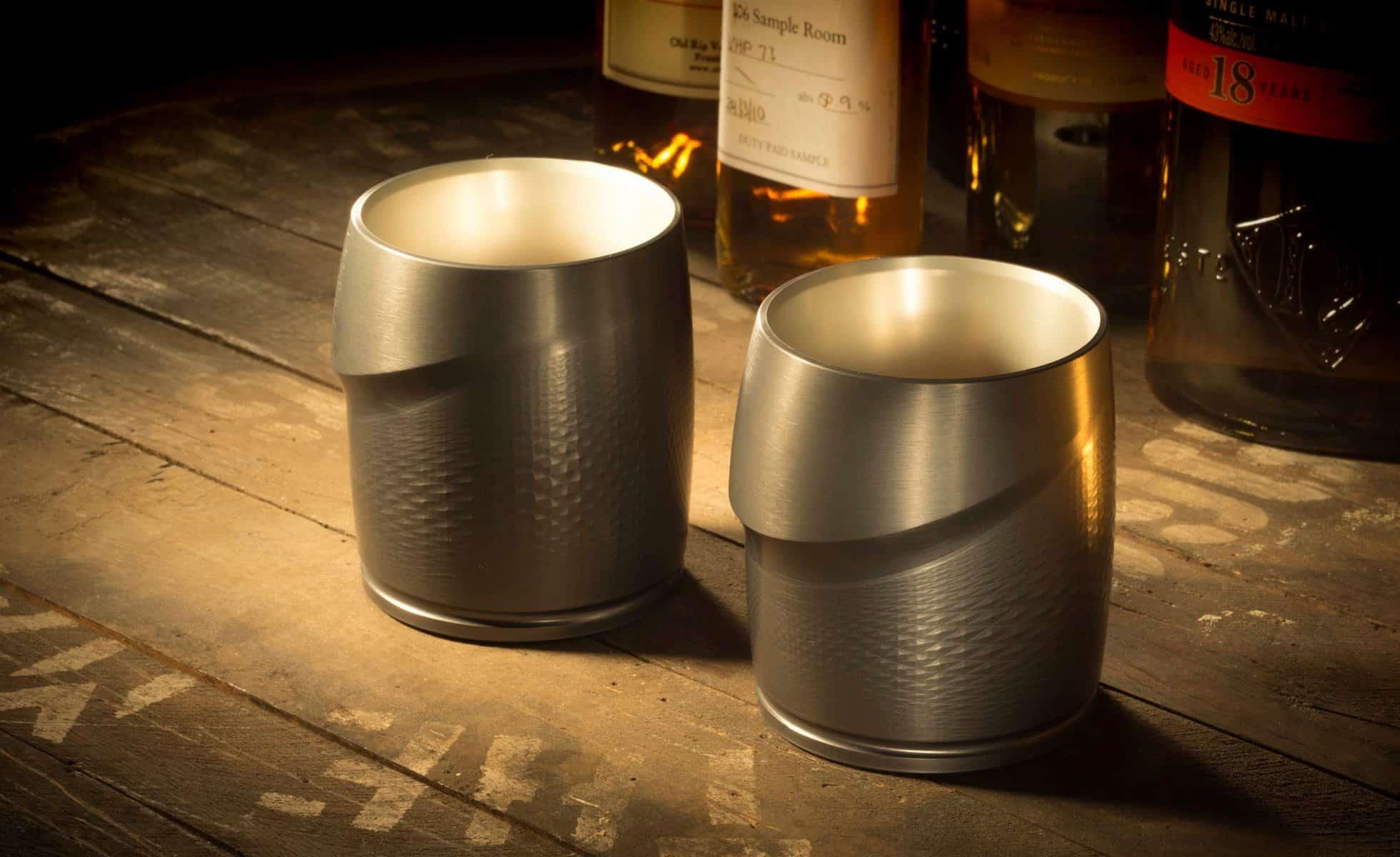 Lowball Machined Tumbler – whiskey glasses