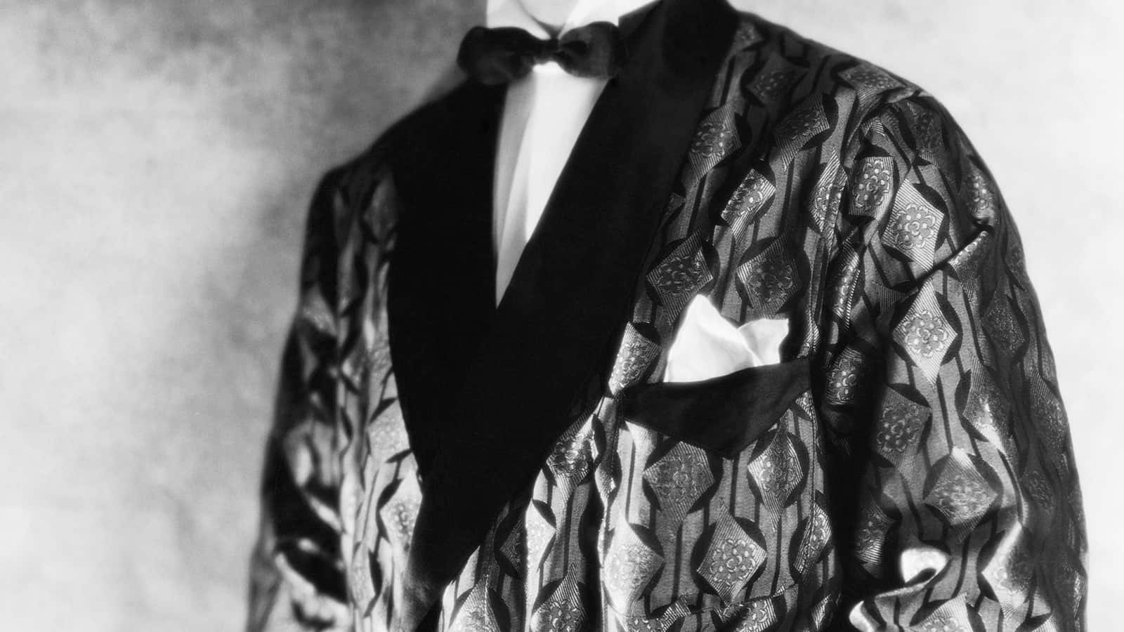 Actor William Powell Wearing Smoking Jacket