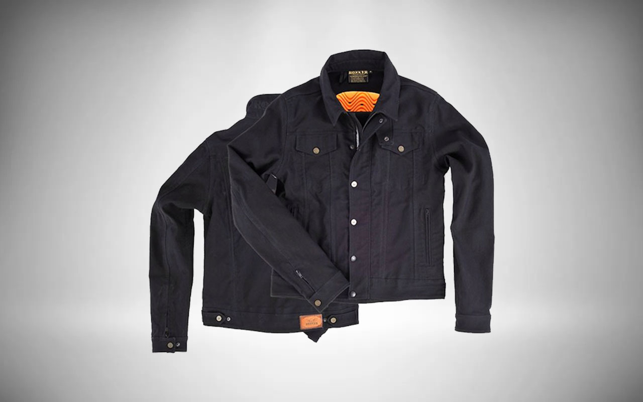 Rokker Revolution Denim Motorcycle Jacket