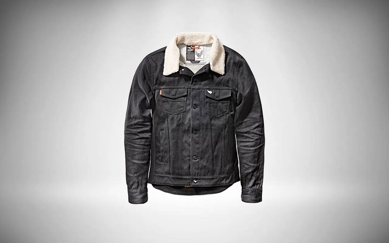 Saint Unbreakable Denim Shearling Collar Jacket