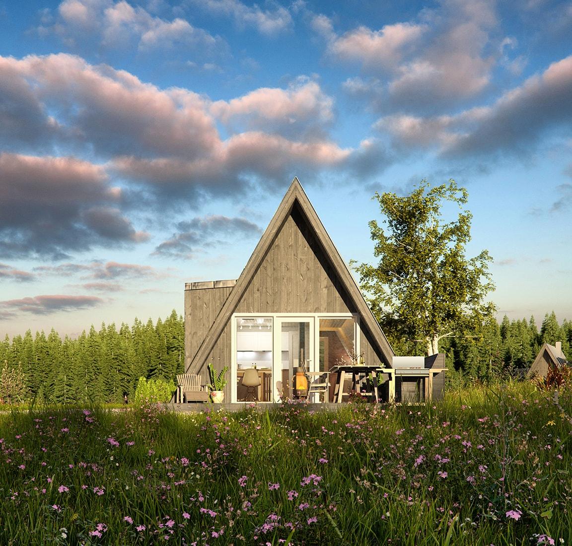 Avram Duo Series prefab cabin – design