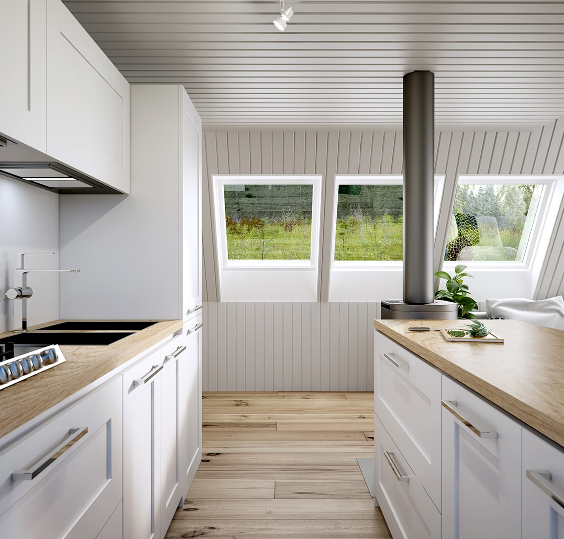 Avram Duo Series prefab cabin – kitchen design