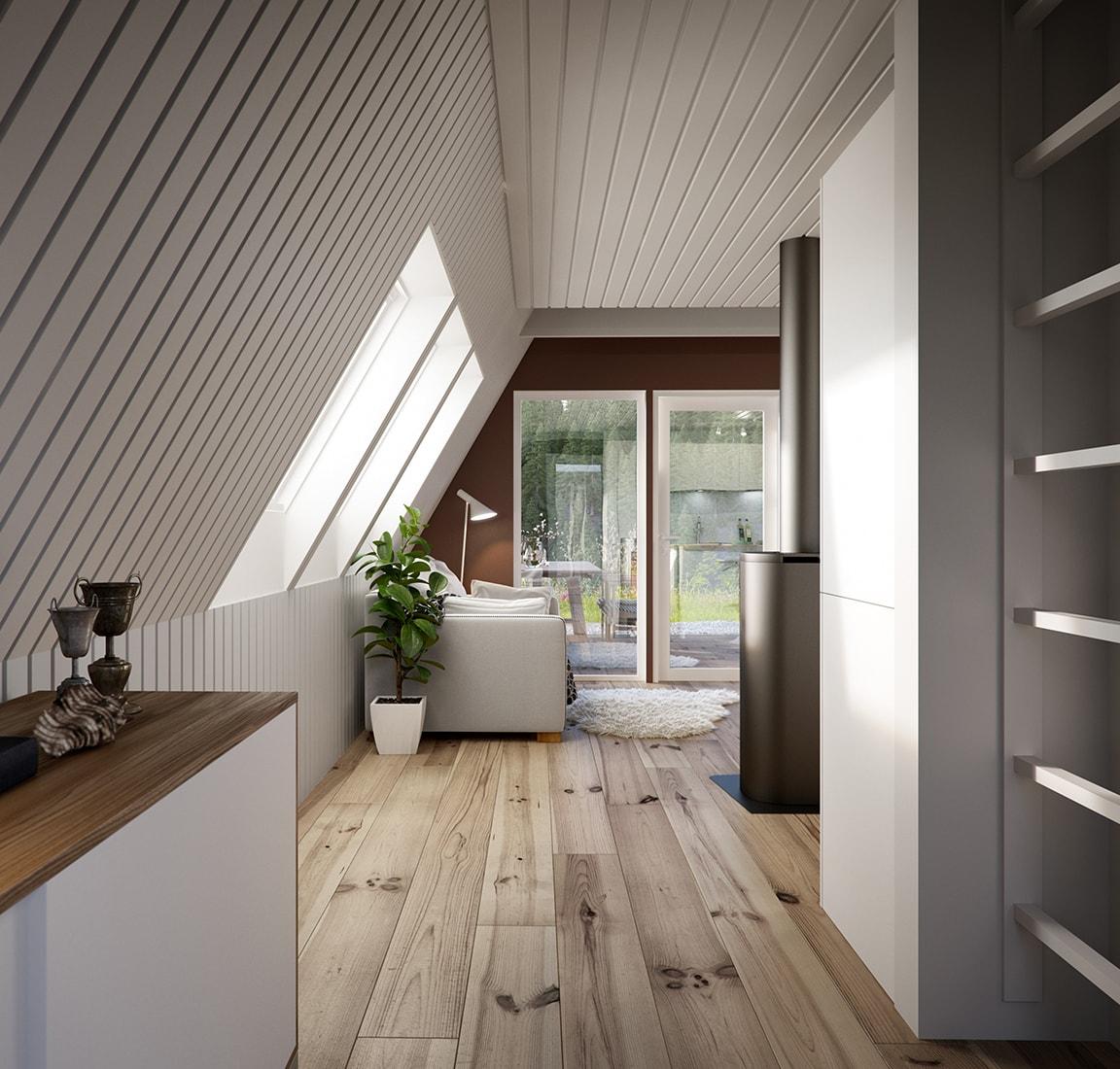 Avram Duo Series prefab cabin – living area