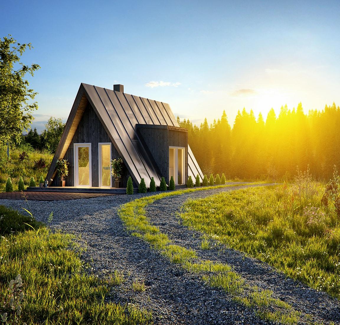 Avram Duo Series prefab cabin – mountain view