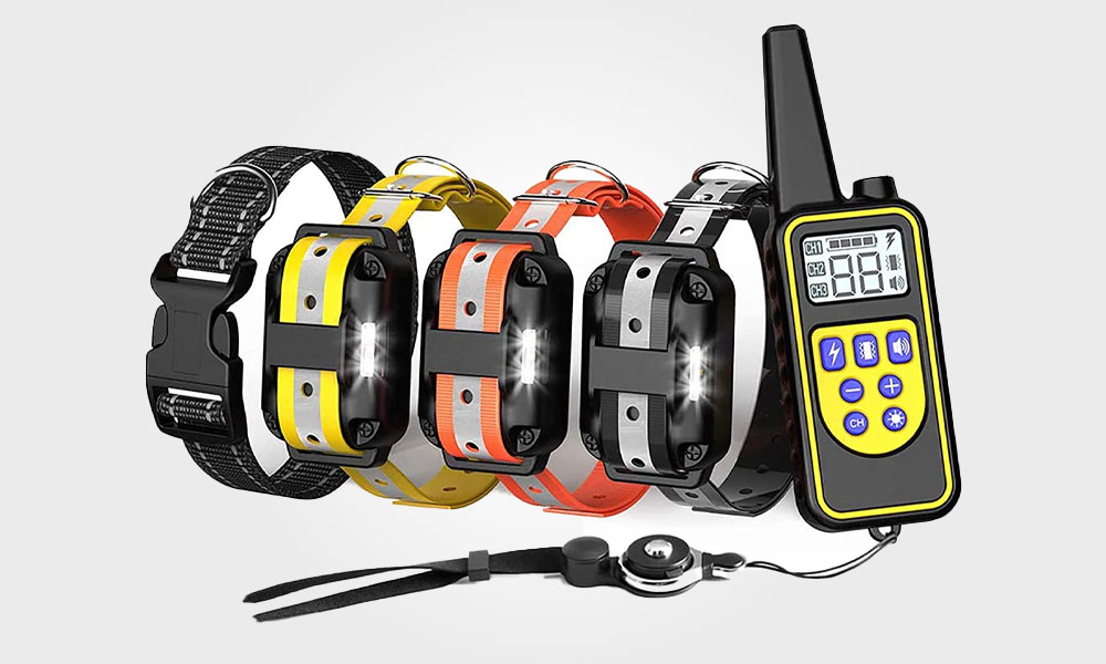 FunniPets Dog Training Collar for 3 Dogs, 2600ft Range Dog Shock Collar with Remote