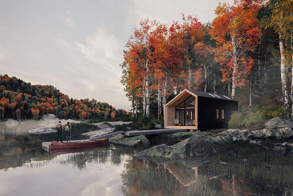 System 01 prefab cabin