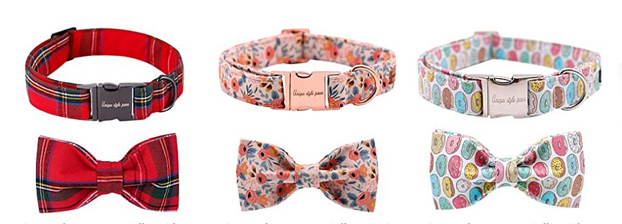 Unique style paws Dog Collar Bow tie Collar Adjustable Collars for Dogs and Cats