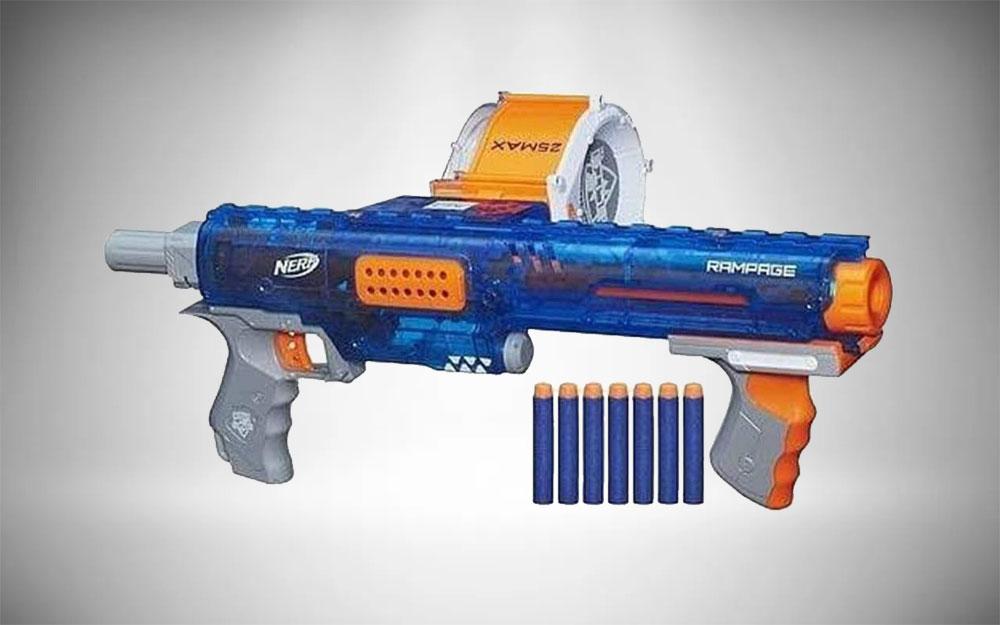 Nerf Assault Rifle | N Strike Elite Rampage Sonic Ice Series Blaster