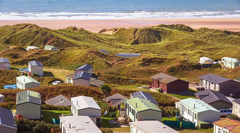 Prefabricated Cabins in British holiday village