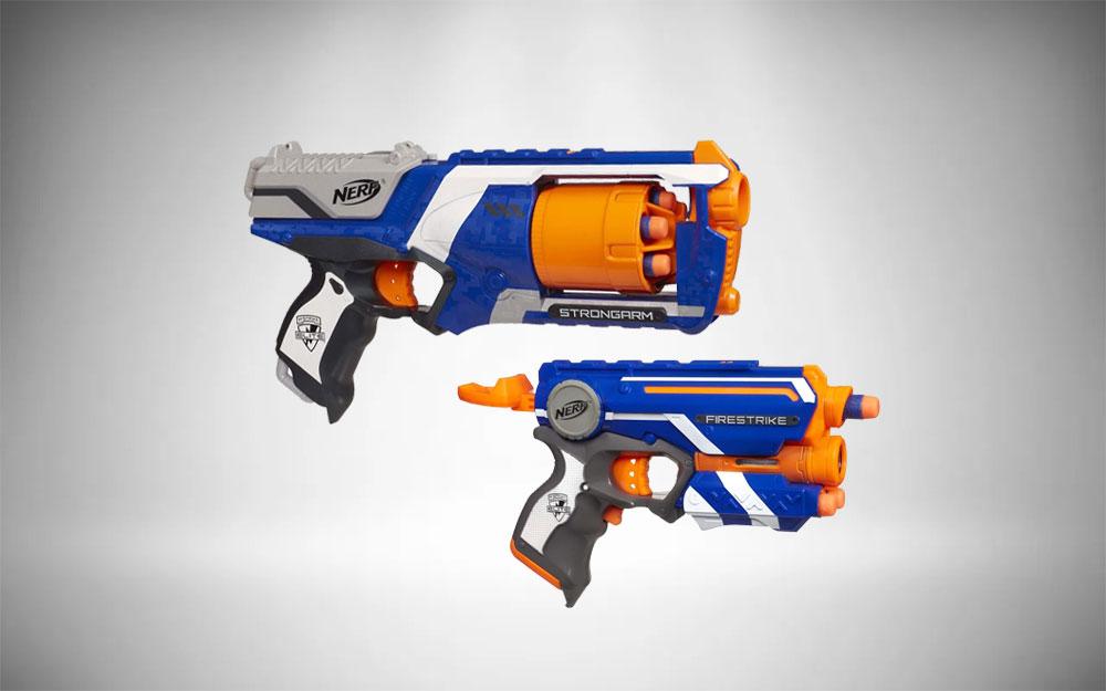 Small Nerf Guns | N-Strike Elite Strongarm Firestrike Blasters