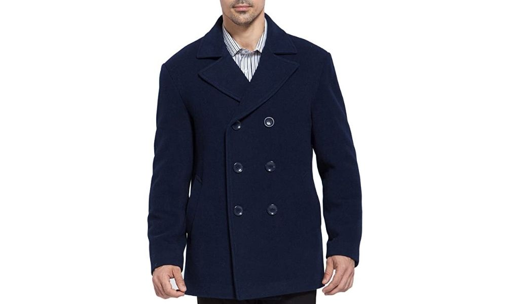 BGSD Men's Mark Classic Wool Blend Pea Coat