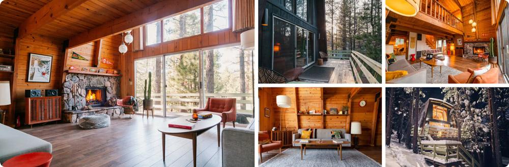 Big Bear Treehouse - Forest Backyard, Mid-Century