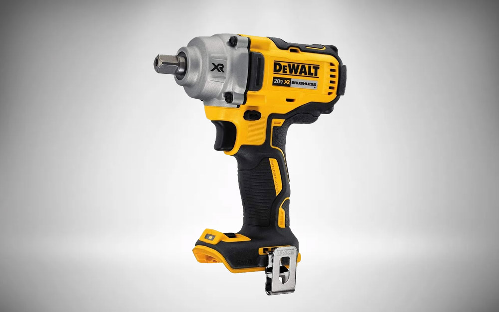 DEWALT 20V MAX XR Cordless Impact Wrench Kit with Detent Pin Anvil