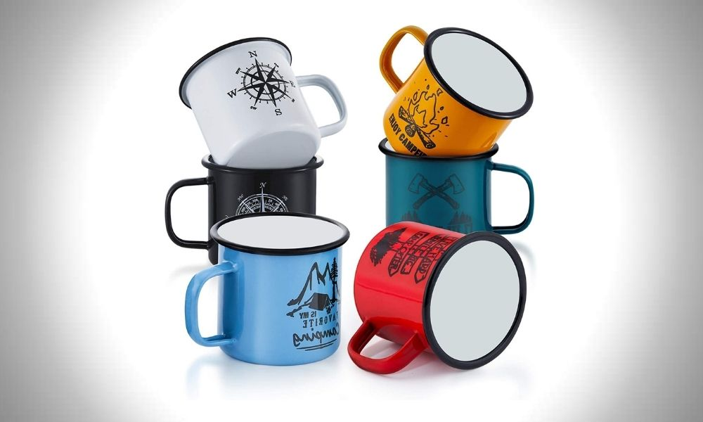 E-Far Enamel Camping Mug