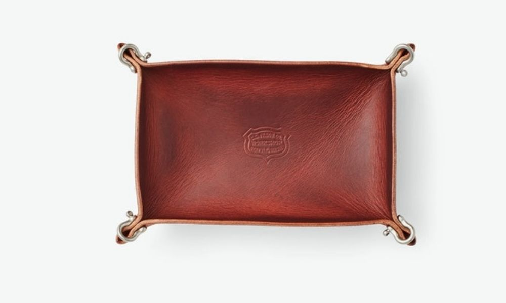 Filson Workshop Rectangle Leather Valet Tray