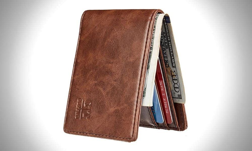 Gostwo Men's Slim Minimalist Wallet