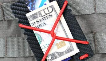 Kydex Shock Wallet (Black Carbon Fiber - Red Cord) by Violent Little Machine Shop