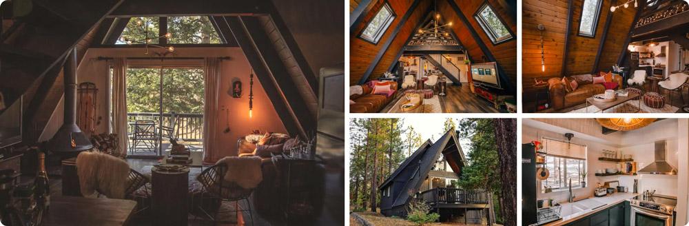 Lux Boho A-Frame Cabin