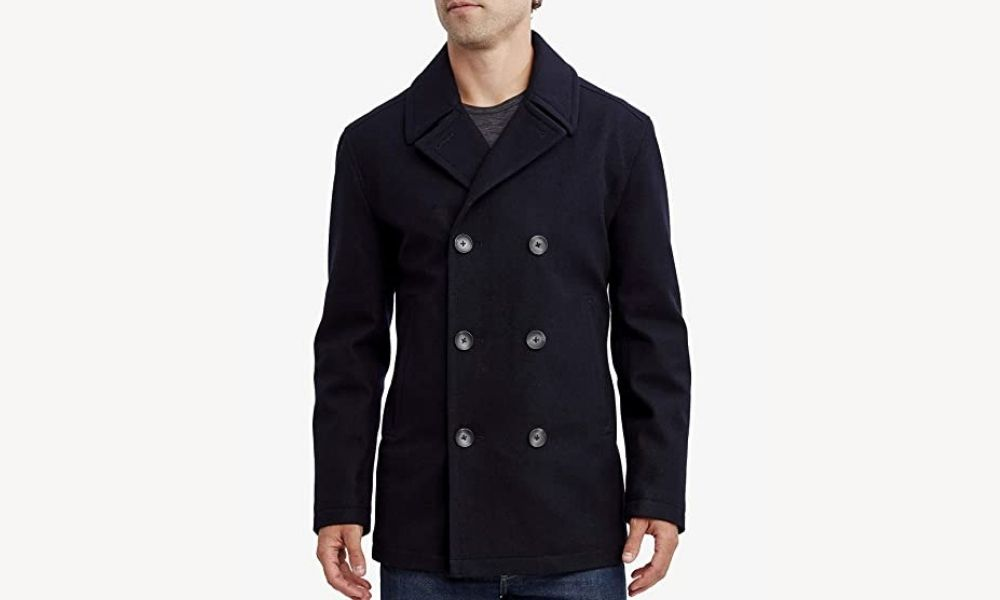 Nautica Men's Classic Double-Breasted Peacoat