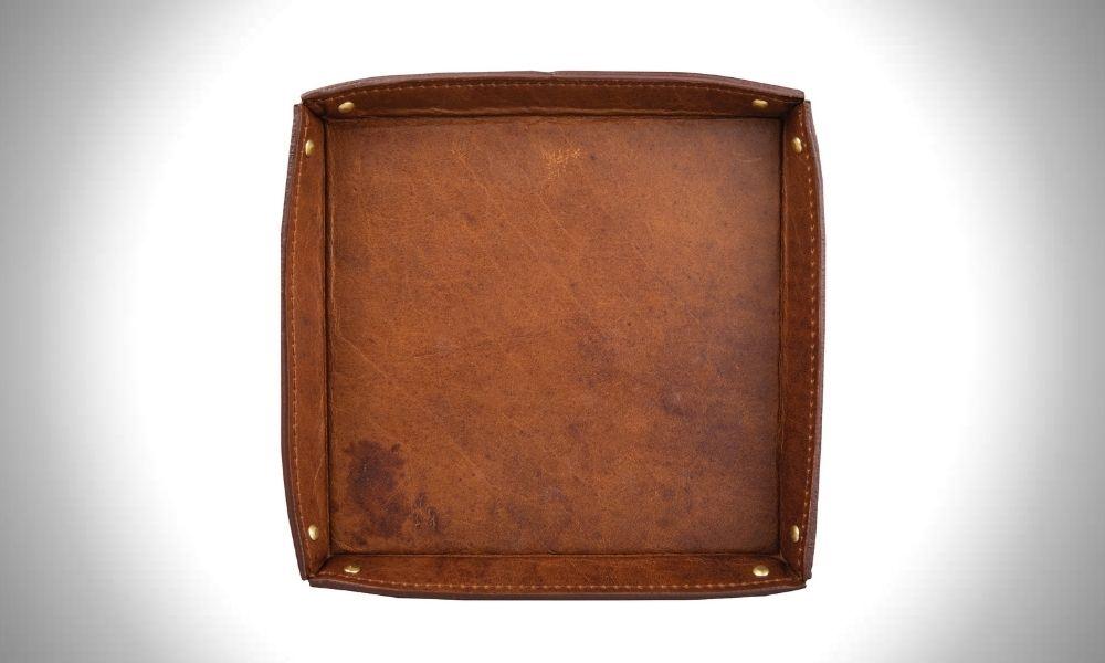 Onward Reserve Bison Leather Valet Tray