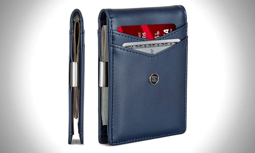 Suavell Leather Slim Wallets for Men