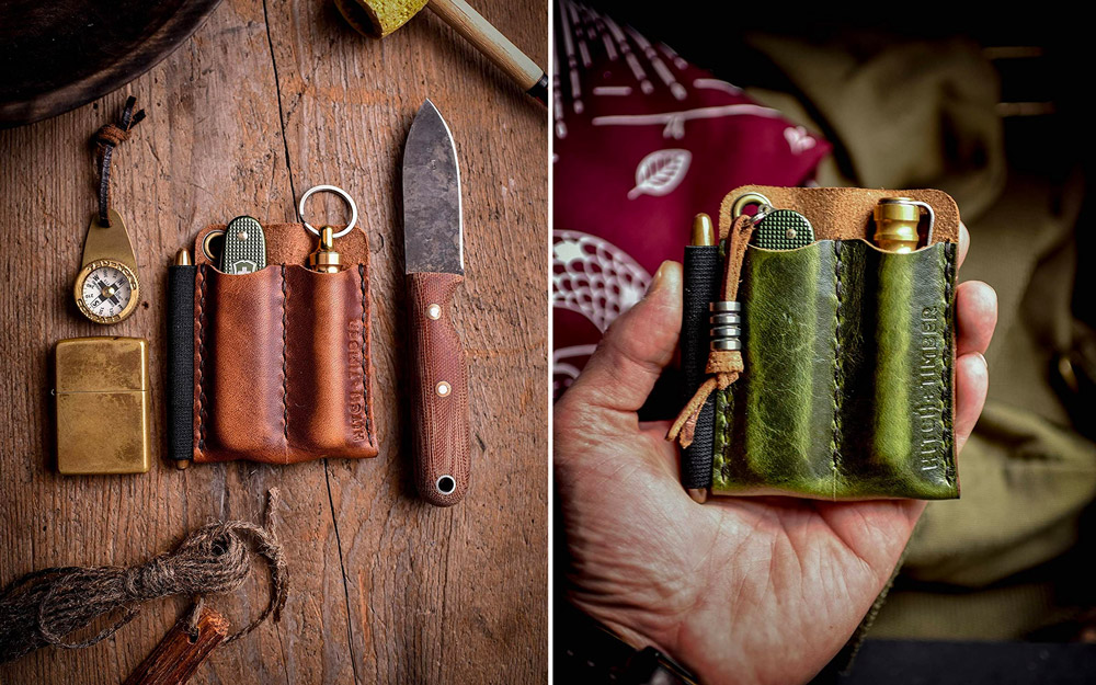 The Pocket Runt 2.0 by Hitch and Timber ~ Leather EDC Slip