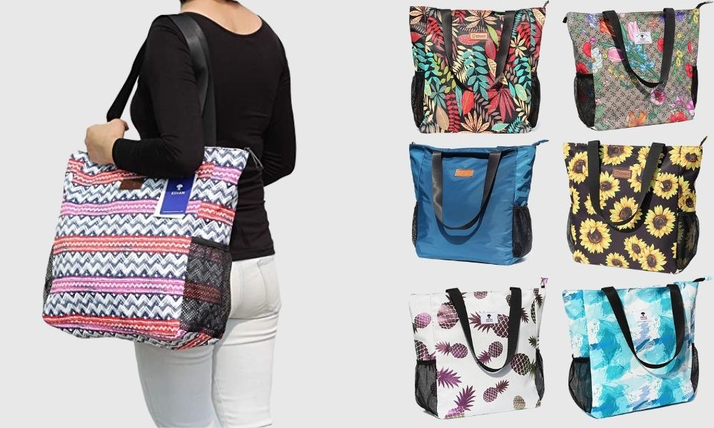 Esvan Original Floral Waterproof Tote Youll Want to Try These Waterproof Tote Bags For Their Chic Look
