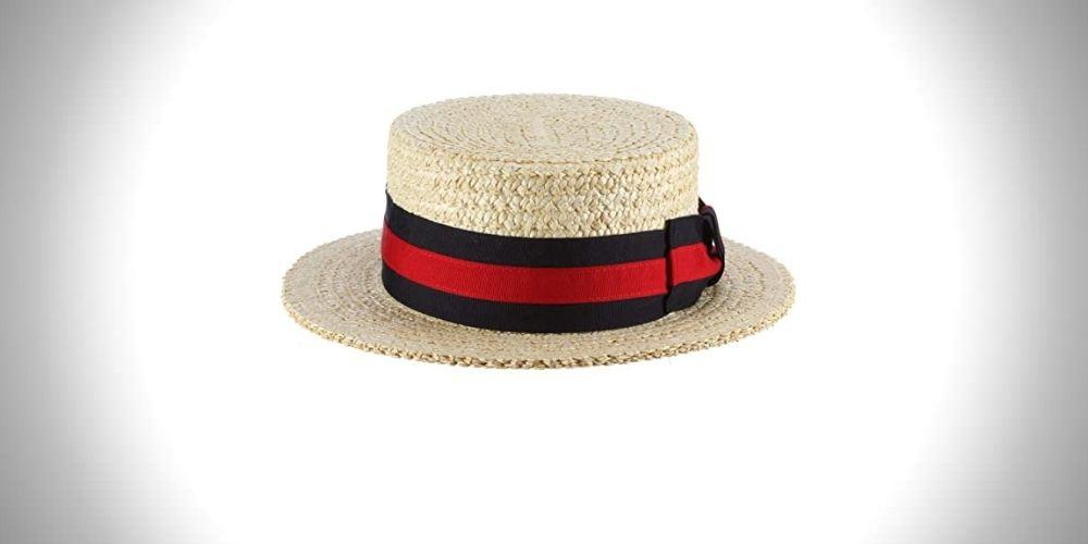 Scala Men's Dress Straw Laichow Braid Boater Hat