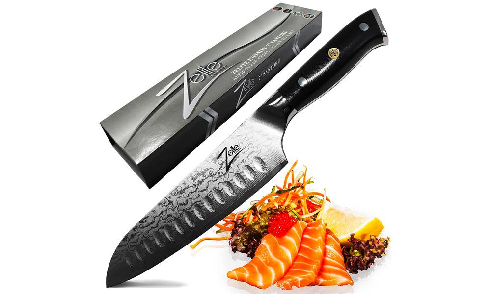 Zelite Infinity Santoku Knife 7 Inch - Alpha-Royal Series