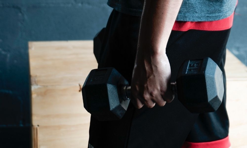 Farmer's Walk Using Dumbbells - forearm workout at home