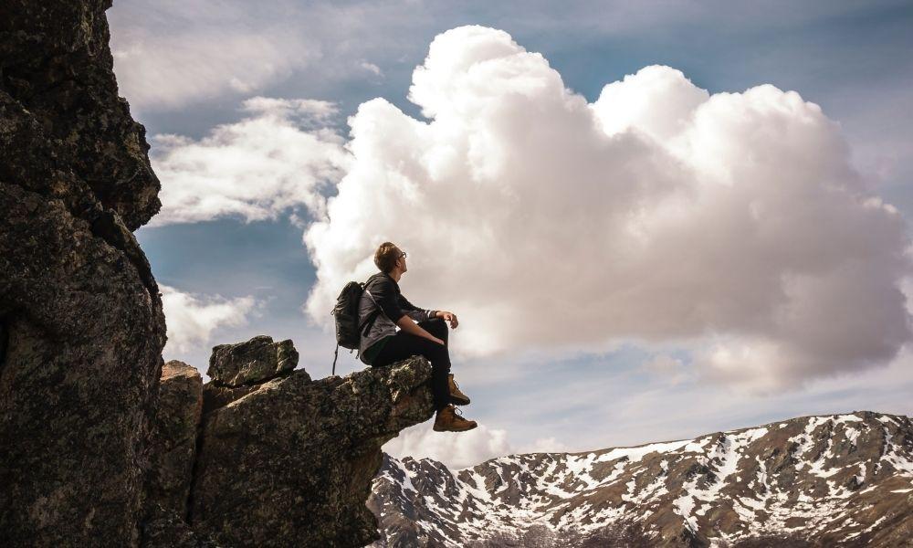 Free Soloing- rock climbing