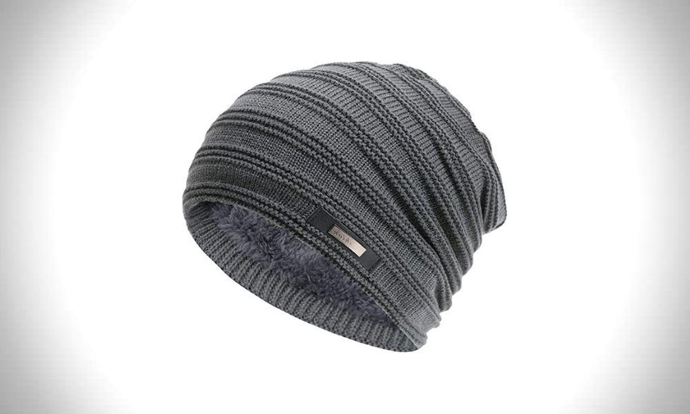 Momoon Casual Knitting Wool Velvet Beanie