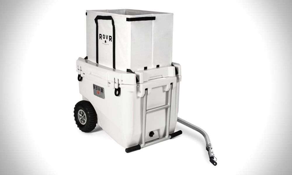 RovR 60 Quart Camping Rolling Cooler with Wheels