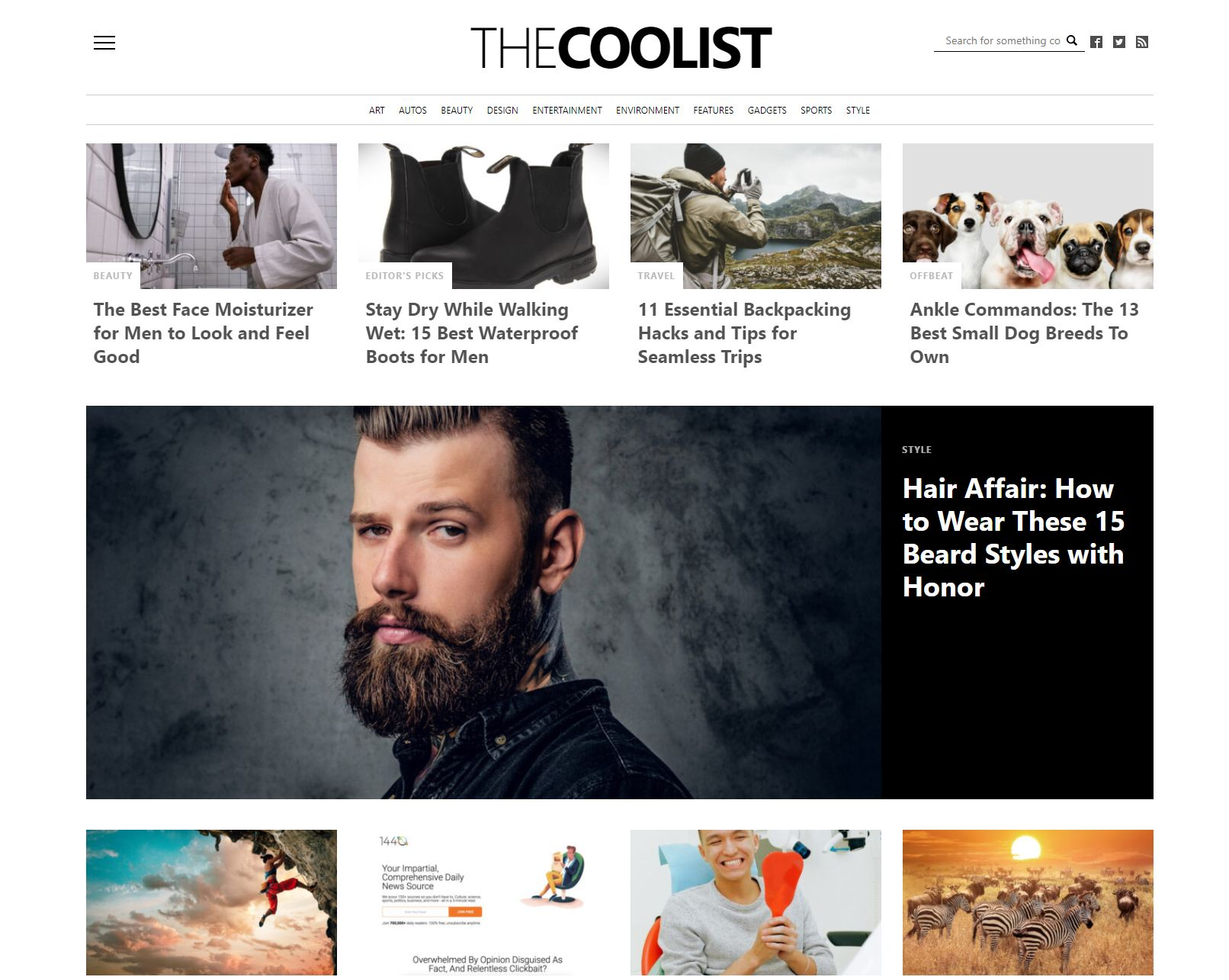 TheCoolist homepage Signup to TheCoolist Newsletter