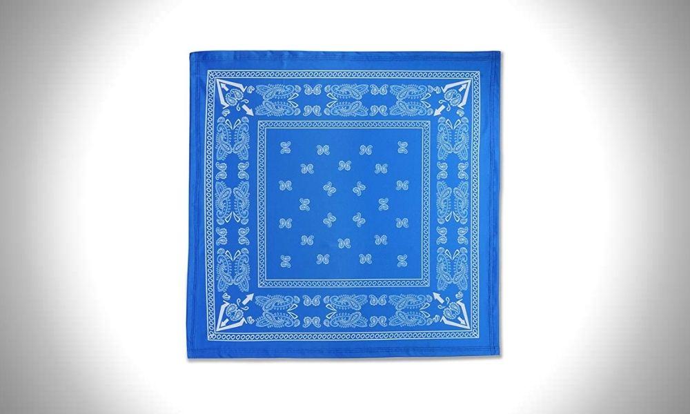 VANLINKER Iced Silk Fabric Paisley Bandanas