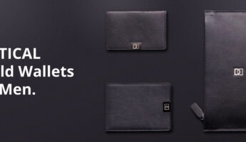 Mens vertical bifold wallet