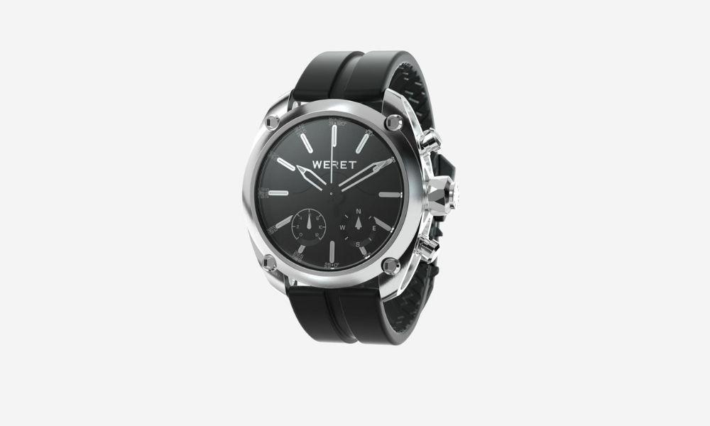Weret C-BLK Silicone Surf Watch