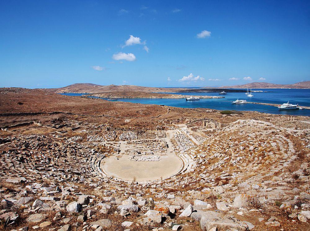 Ancient Amphitheater on Delos Island