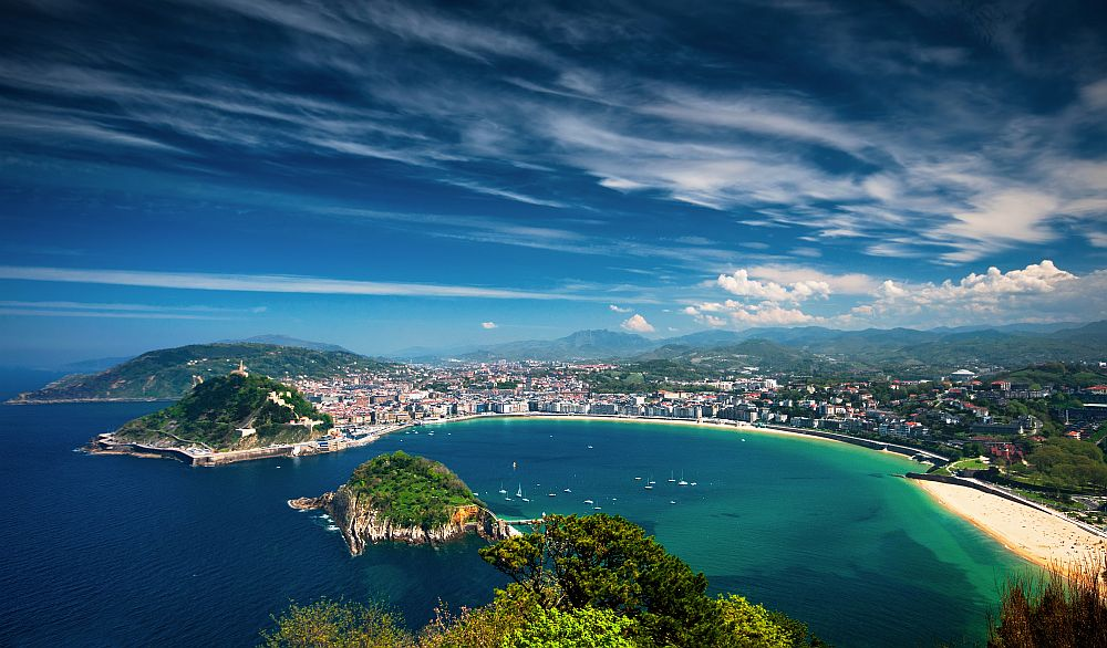 Coastal view of San Sebastian, Spain