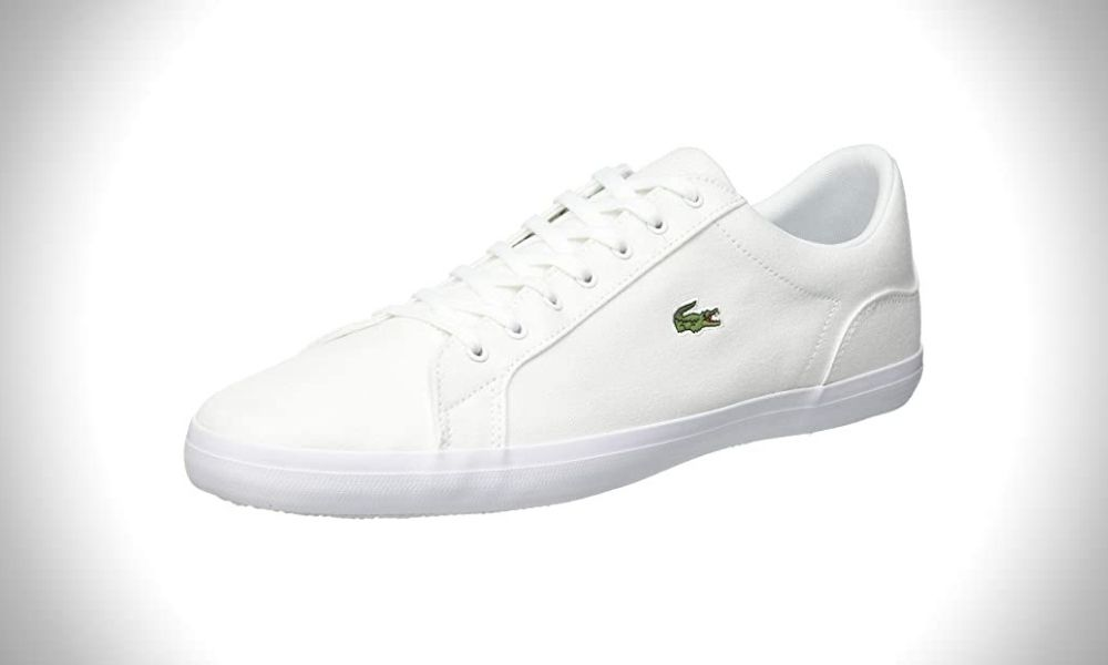 Lacoste Men's Lerond Sneakers - mens white canvas sneakers
