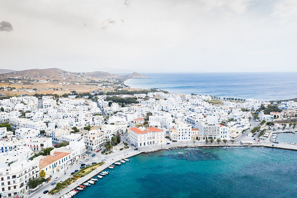 Port of Tinos island in Greece