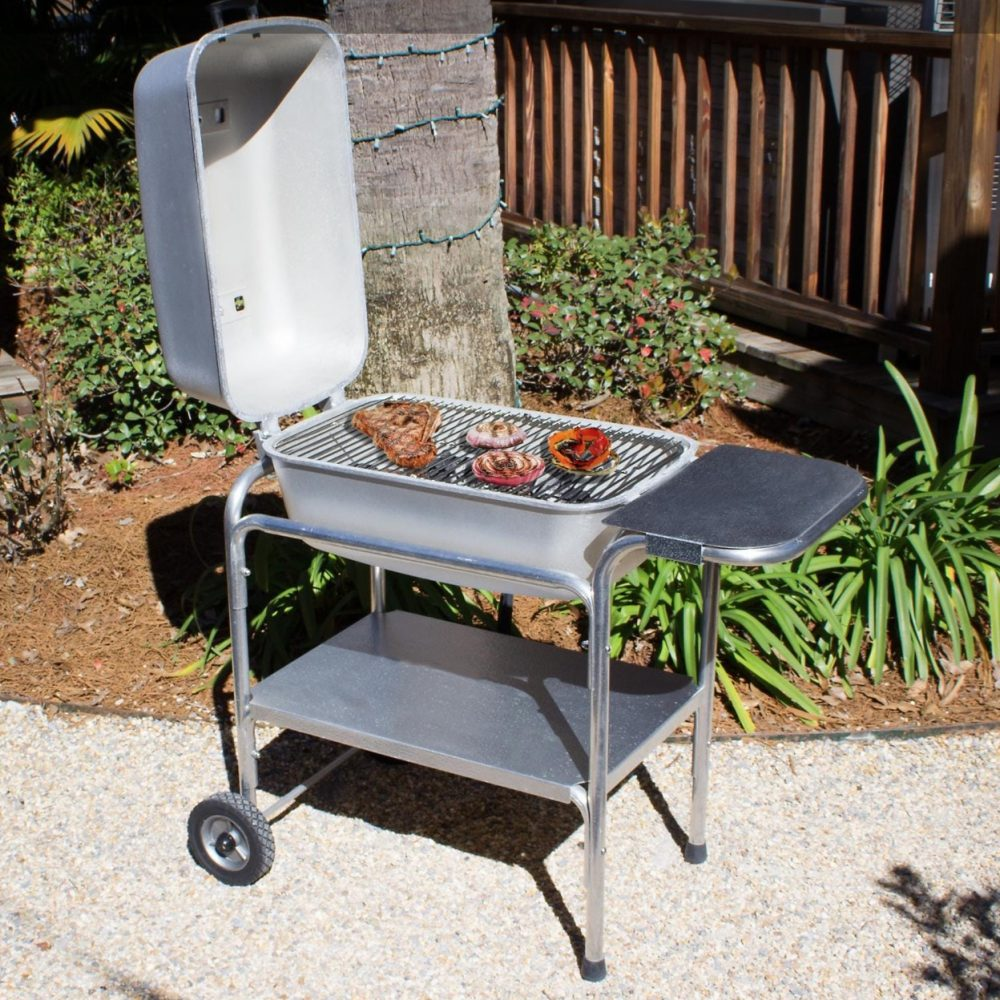Our Best Portable Smoker, the Portable Kitchen Cast Aluminum Charcoal Grill & Smoker PK99740
