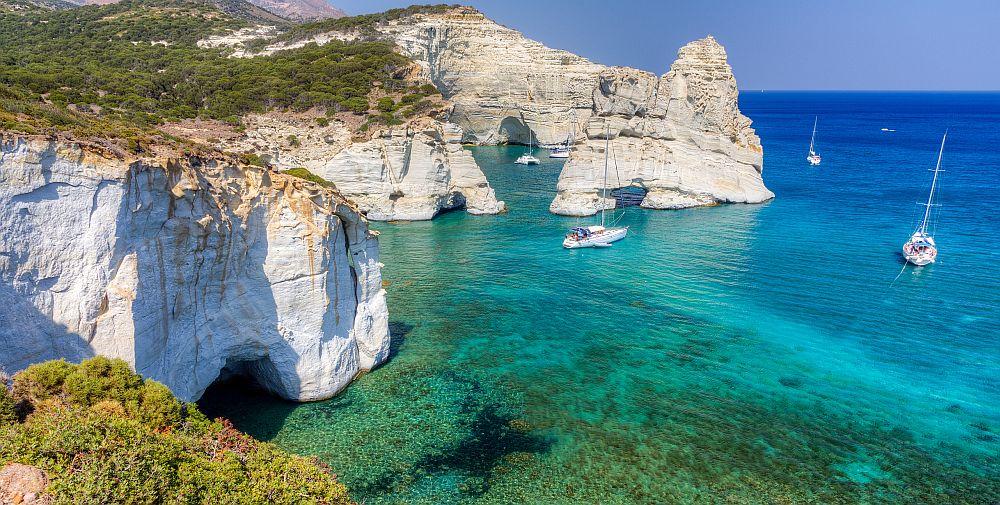 Sea view Kleftiko Milos Island Cyclades Greece