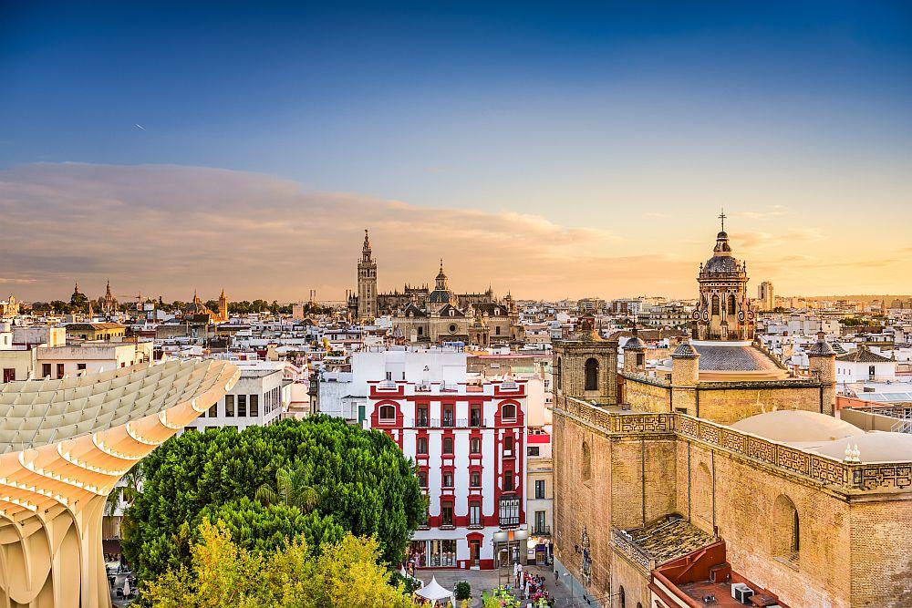 Seville skyline view, Spain