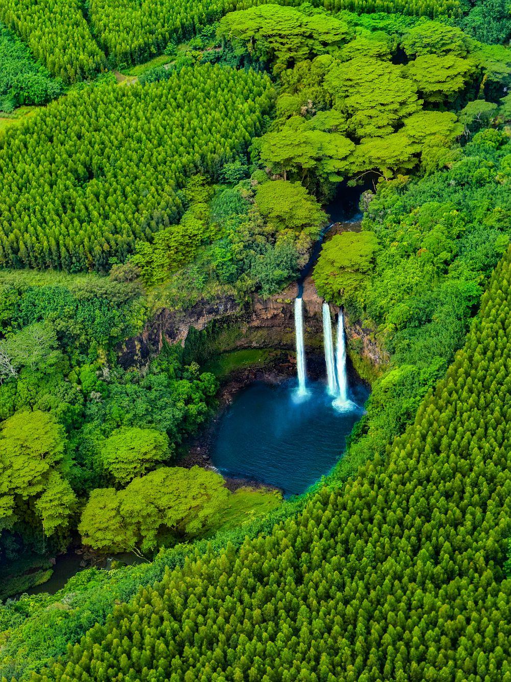 Wailua Waterfalls in Hawaii