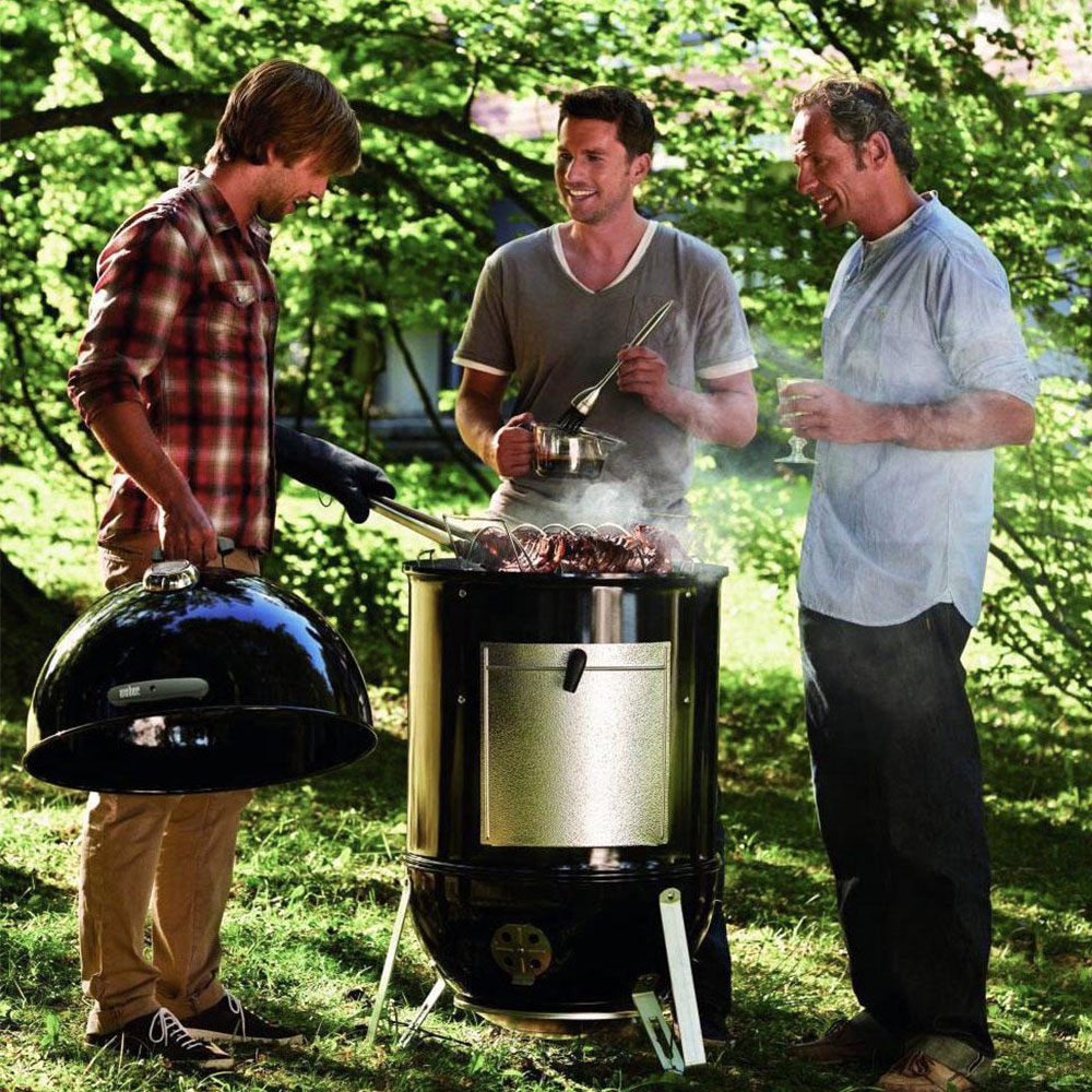 Our Best Overall Charcoal Smoker, the Weber Smokey Mountain BBQ Smoker
