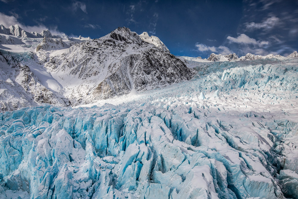 Aerial View of Franz Josef Glacier, New Zealand